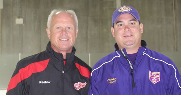 ISS Kings Head Coach, Nolan Howe with his father Mark Howe